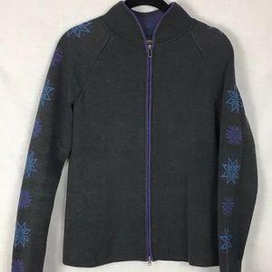 Eddie Bauer zip up cardigan sweater
